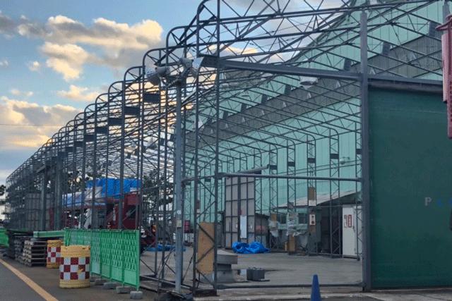 【施工実績11】アクティオ 市川営業所内機材ヤード鉄骨
